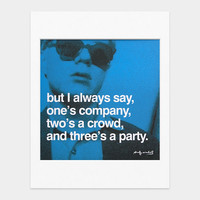 Warhol: Famous Quotes, Matted Prints | MoMA