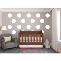 Wall Polka-Dot Decor- Vinyl Wall Art Decal for Homes, Offices, Kids Rooms, Nurseries, Schools, High Schools, Colleges, Universities