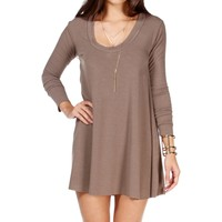 Taupe Relaxed Tunic