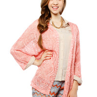 Papaya Clothing Online :: LOOSE HOLE REGLAN CARDIGAN