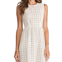 MM Couture by Miss Me Sleeveless Eyelet Dress in White from REVOLVEclothing.com