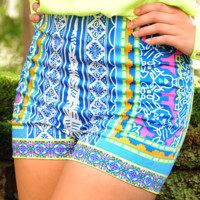 Looking For Stars Shorts: Blue/Multi | Hope's