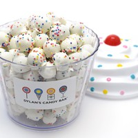 Dylan's Candy Bar Cupcake filled with White Chocolate Pretzel Balls