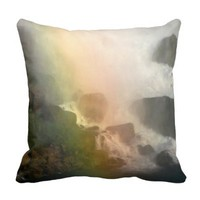 rainbow waterfall pillow