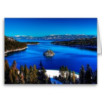 Emerald Bay, Lake Tahoe, California Greeting Card