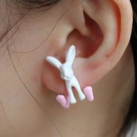 Neon 3D Bunny Ear Stud (Single)