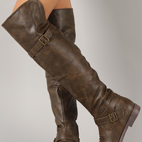 Ryder-2B Cuff Buckle Round Toe Riding Boot