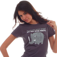Elephants Never Forget and The Never Forgive T-Shirt | SnorgTees
