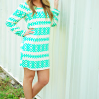 All The Little Lights Dress: Cream/Green