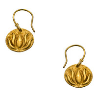 Flying Lizard Gold Lotus Leaf Drop Earrings