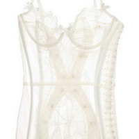 Agent Provocateur | Penelope tulle and lace basque | NET-A-PORTER.COM