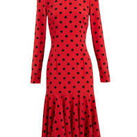 DOLCE & GABBANA | Polka Dot Silk Dress | Browns fashion & designer clothes & clothing