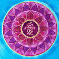 Love Mandala - Original Mandala Painting - Hand Painted with Japanese - Feng Shui Art