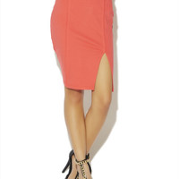 Ponte Knit Pencil Skirt | Arden B.