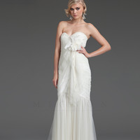 Mignon 2013 Mignon White Collection - Ivory Sweetheart Gathered Wedding Dress
