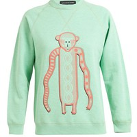 OSTWALD HELGASON | Monkey Motif Cotton Sweatshirt | Browns fashion & designer clothes & clothing