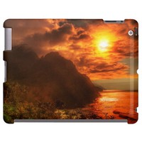Beautiful Sunset Above The Ocean iPad 2,3,4 Case
