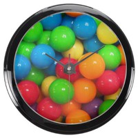 Colorful Gumballs~ Aqua Clock
