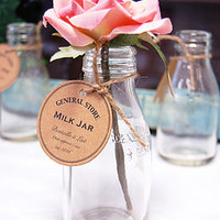 Vintage Display Milk Bottles