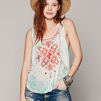 Free People FP New Romantics Embroidered Tank