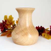 Wood Vase Turned in Maple