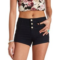 "REFUGE ""HI-WAIST SHORTIE"" HIGH-WAISTED JEAN SHORTS"