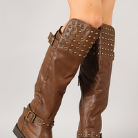 Breckelle Rider-23 Studded Buckle Riding Boot