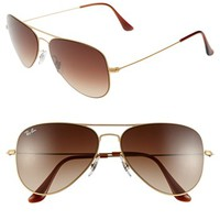 Ray-Ban 58mm Steel Aviator Sunglasses | Nordstrom