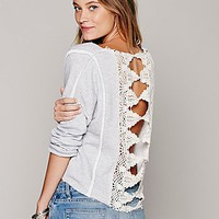 Free People Womens Victorian Lace Pullover -