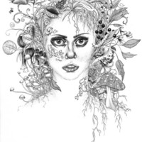 Garden Girl Art Print by 32 and dropping