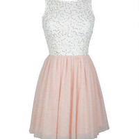 Sequin Lace And Tulle Dress -