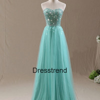 Long Prom Dress - Tiffany Prom Dress / Formal Tiffany Evening Dress / Blue Prom Dress / Long Blue Party Dress