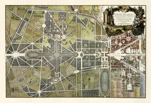 Versailles, France: 1746 - REPRODUCTION MAPS