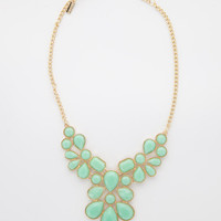 Colored Gems Statement Necklace
