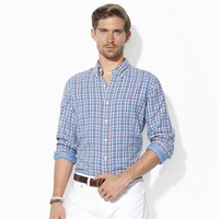 Polo Ralph Lauren Custom-Fit Plaid Double-Faced Cotton Shirt at Von Maur