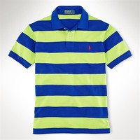 Polo Ralph Lauren Custom-Fit Striped Polo Shirt at Von Maur