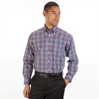 Enro Regular Fit Non-Iron Gingham Shirt at Von Maur