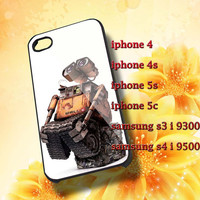 Wall E Robot Hard plastic and Rubber case iphone 4/4s,5/5s,5c,Samsung S3 i9300,S4 i9500