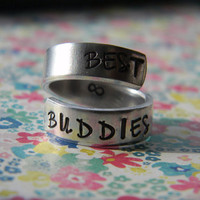 best buddies forever aluminum ring