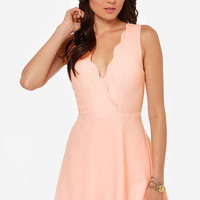 Pacific Trim Peach Dress