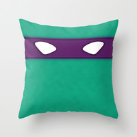 Donatello TMHT Throw Pillow by DesignDinamique