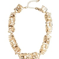 New Look Elephant Procession Necklace