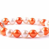 Buy Virginia Tech Hokies Spirit Pearl Bracelet Jewelry. Free Shipping