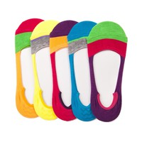 Womens Colorblock Casual Liners 5 Pack
