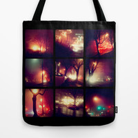 City Night Lights Tote Bag by Pixel Pop