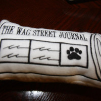 Wag Street Journal Dog Toy