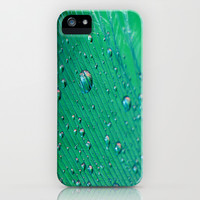 Emerald Feather iPhone & iPod Case by Ally Coxon