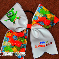 Cute GUMMY cheer Bear BOW