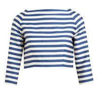 OLYMPIA LE-TAN | Striped Wool-Cotton Crop Top | Browns fashion & designer clothes & clothing