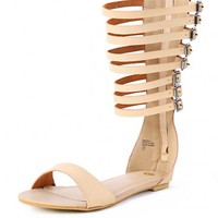Sabrina-1 Buckle Strappy Gladiator Sandals | MakeMeChic.com
